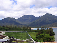 Napali coast from Princeville